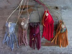 Medicine bag necklace, leather pouch, leather jewelry