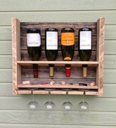 Small Reclaimed Pine Wine Rack
