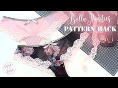 Bella Lace Panties - Pattern Hack - YouTube