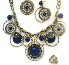 Indigo Earrings $24 and Necklace $48 and Jasmine Ring $29