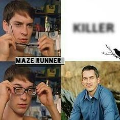 He only killed like, everyone! Maze Runner Funny, Maze Runner The Scorch, Maze Runner Cast, Maze Runner Series, James Dashner, Sarah Andersen, The Scorch Trials, Book Memes, Dylan O'brien