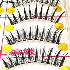 Soft Eye Lashes Extension 10 Pairs New Hot Fashion Messy Cross Thick Beauty False Eyelashes Extensions Party Wedding Makeup Tool