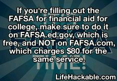 The problem is that not every trainee who wants to attend college receives either federally funded trainee aid or the large bulk of scholarships that require either remarkable grades or a specific and remarkable talent in order to get. College Life Hacks, Life Hacks For School, School Study Tips, College Tips, Financial Aid For College, College Planning, Scholarships For College, 1000 Lifehacks, Good To Know