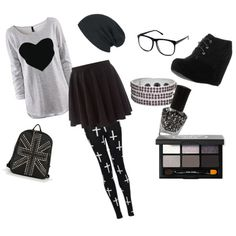"""""""cute in black"""" by cutie-fashions on Polyvore"""