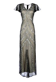Leona Ivory Beaded Flapper Dress, 1920s Great Gatsby Dress, Sequin Maxi Dress, Prom Dress, Evening Formal Dress, Bridesmaid Plus Size, S-4XL by Jywal on Etsy