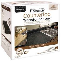 Coat your new kitchen countertop to look like an expensive stone.