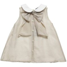 Fendi Baby Girls Beige Silk Dress and Knickers Set with 'FF' Print