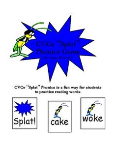 "This CVCe ""Splat"" Phonics Game is a fun way for students to practice reading CVCe words and building fluency."
