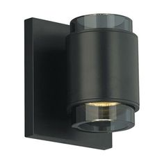 Voto Round Satin Nickel One-Light LED Wall Sconce with Smoke Shade and Antique Bronze Stem - (In Satin Nickel)