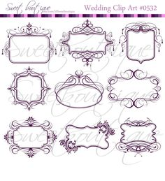 PURPLE Vintage Victorian Frames Chandelier by MSweetboutique, $5.99