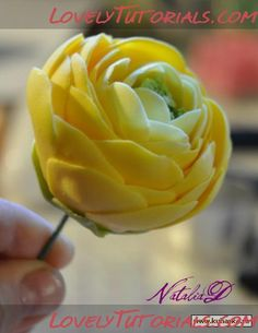 Ranunculus without cutters can be done in Polymer clay. Really cool photo tutorial.
