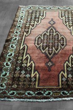Over-Dyed Northwest Persian Geometric Wool Rug