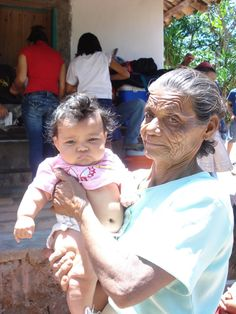 Photo of the day. A volunteer snapped this photo of grandma and grandbaby while visiting a mountain school.