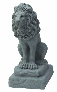 outdoor lion statues