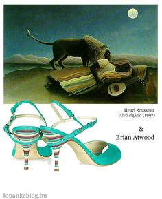 Painting by Henri Rousseau, shoes by Brian Atwood