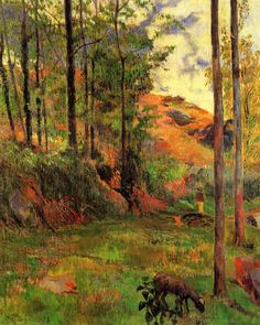 Paul Gauguin (1848-1903), Path down to the Aven, 1888.  oil on canvas, 92 x 73 cm