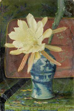 John Atkinson Grimshaw (British, Still life with a Chinese blue and white vase Be Still, Still Life, Atkinson Grimshaw, Blue And White Vase, Collage, Painting Inspiration, Flower Art, Art Pieces, Sculptures