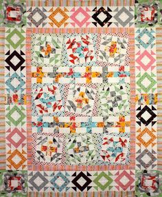 Fancy Wonky Cross Quilt Pattern via Craftsy