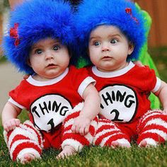 Cute Babies -  Twins - Thing 1 and 2!
