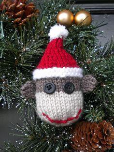 By Aunt Janets Designs on Luuella #ChristmasSockMonkey #SockMonkeyOrnament #KellysSockMonkeyMania