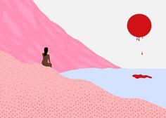 Bright, Sensual Illustrations That Are Made Entirely On MS Paint