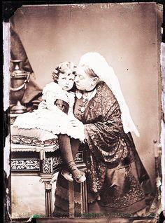 Alexander Bassano (1829-1913) - Queen Victoria with Princess Margaret of Connaught