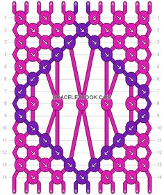 Friendship bracelet Pattern 18931 - 12 strings, 2 colours