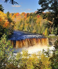 """The Rushing Tahquamenaw""   Tahquamenon Falls, Upper Michigan (explore # 258 Oct. 9, 2010) by Michigan Nut, via Flickr"