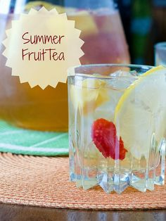 Summer Fruit Tea | infinebalance.com Save money with this low sugar summer punch for the kids!