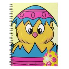 happy easter egg spiral note book
