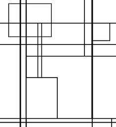 Trames Mondrian