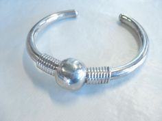 Vintage Mexico Sterling Silver Cuff Bracelet - Ethnic Design,  22.21 grams, sgnd #MexicoalsosignedTC223