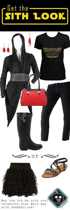 I bring for you the Sith look! show your dark side with this outfit next #StarWarsDay #starwars #maythe4thbewithyou