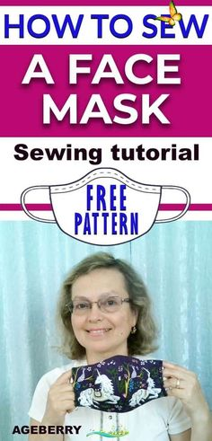 How to sew a fabric face mask plus a free face mask pattern This is a video sewing tutorial on how to sew a face mask from fabric. You will find a free sewing pattern for your own face mask. DIY fabric face mask is an easy sewing project even for a beginner sewist.  #sewingtutorials #sewingprojects #howtosew #sewingforbeginners<br> This is a step-by-step video tutorial on how to sew afabric face mask. You can also get a free face mask pattern PDF. Easy Sewing Projects, Sewing Projects For Beginners, Sewing Tutorials, Sewing Hacks, Sewing Tips, Tutorial Sewing, Diy And Crafts Sewing, Hair Tutorials, Sewing Ideas