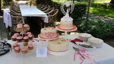 Bruidstaart Ivoor met roze tinten