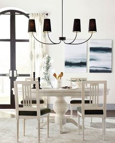 THE HEIGHT FOR SMALL KITCHEN CHANDELIER Dining Table Chandelier, Chandelier Design, Dining Room Light Fixtures, Linear Chandelier, Dining Table Design, Dining Room Lighting, Dining Chair Set, Chandelier Ideas, Dining Rooms