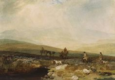 Joseph Mallord William Turner 'Grouse Shooting on Beamsley Beacon', 1816 - Watercolour and gum varnish on paper - 279 x 395 mm © The Wallace Collection, London Turner Painting, English Romantic, Joseph Mallord William Turner, Watercolor Sketch, Covent Garden, Old Master, Landscape Paintings, Oil Paintings, Grouse