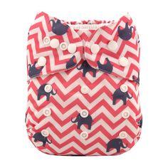 Amazon.com : Alva Baby New Design Reuseable Washable Pocket Cloth Diaper Nappy + 2 Inserts H001 : Baby
