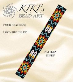 This is an own designed pattern in PDF format, downloadable directly from Etsy. This pattern is for the Four feathers ethnic inspired LOOM bracelet which is created for Japanese size 11 delica seedbeads. The pdf file includes: 1. a large picture of the pattern 2. a large, detailed