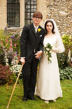 Pin for Later: The Ultimate Movie and TV Weddings Gallery The Theory of Everything Eddie Redmayne and Felicity Jones re-created Stephen and Jane Hawking's wedding photo for the biopic.
