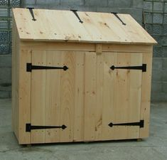 Amazing Shed Plans - Un abri esthetique pour vos poubelles - Now You Can Build ANY Shed In A Weekend Even If You've Zero Woodworking Experience! Start building amazing sheds the easier way with a collection of shed plans! Garbage Can Shed, Garbage Can Storage, Shed Storage, Storage Bins, Storage Area, Utility Sheds, Diy Shed Plans, Shed Kits, Trash Bins