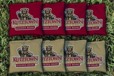 Cornhole Bag Logo Set - Kutztown University Golden Bears 9202