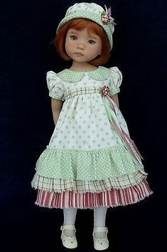 *Spring Mint* 4 piece ensemble by VSO for Effner Little Darling Doll: