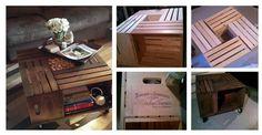 Meble DIY: Własnoręcznie robiony stoliczek do salonu ze skrzynek #SKRZYNKI #STOLIK #SALON #MEBLE #DIY #ZRÓB TO SAMA #KROK PO KROKU