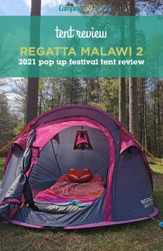 When you want something that's fast to put up, you can't go wrong with a pop up and the Malawi 2 from Regatta is great quality and offers some cool features, making this the ideal choice for festivals and solo camping trips. Read on for our full review. #tent #popup #festival #camping #tentreview #regatta