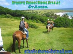 Horseback riding St.Lucia with Atlantic Shores Riding Stables. Ocean view