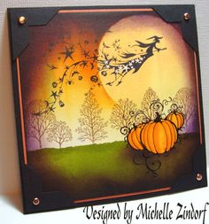Another Michelle Zindorf card.  She really does the best Halloween cards and tutorials.