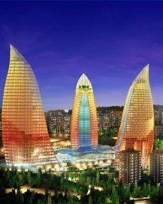 Flame Towers (3 Pics) Baku