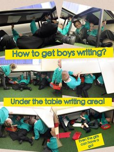 How to get boys writing? Make it exciting! a great idea is via Writing Corner, Writing Area, Writing Skills, Writing Table, Phonics Activities, Writing Activities, Classroom Activities, Nursery Activities, Eyfs Classroom