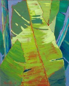 Banana Leaf - Tropical Hawaiian Artwork: Beach Decor, Coastal Home Decor, Nautical Decor, Tropical Island Decor & Beach Cottage Furnishings #tropicalbeachhousedecor #coastalcottagedecorating #beachcottagesdecor #tropicaldecor #coastalcottagehomes